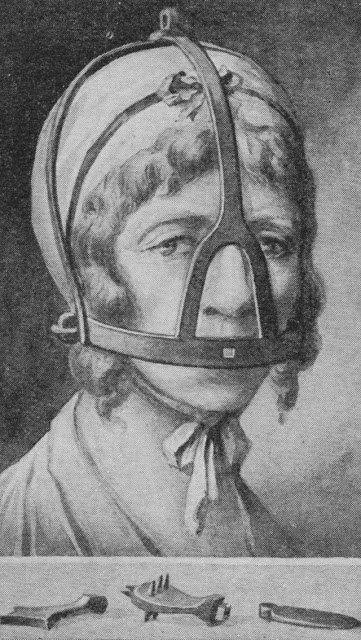 The mask of shame was used to punish grumpy wives and gossips